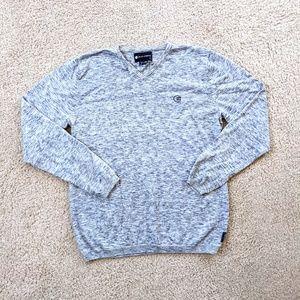 Billabong Pullover V Neck Sweater Men's XL Gray